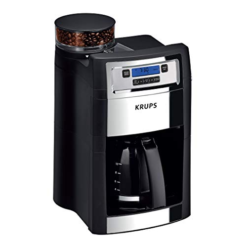KRUPS KM785D50 Grind and Brew Auto-Start Maker with Builtin Burr Coffee Grinder, 10-Cups