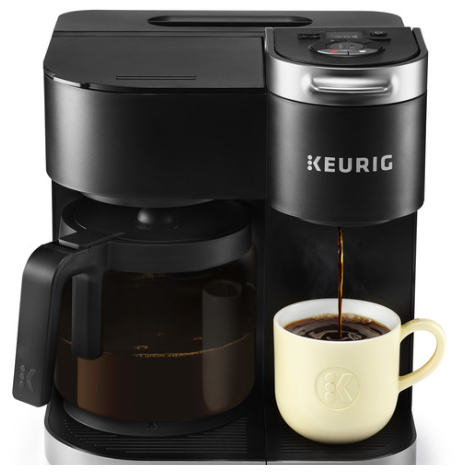 Plus Coffee Keurig K-Duo Maker, Single Serve, and 12-Cup Carafe Drip Coffee Brewer
