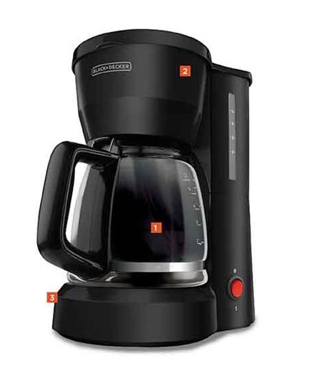 BLACK+DECKER 5-Cup Coffeemaker, DCM600B BLACK