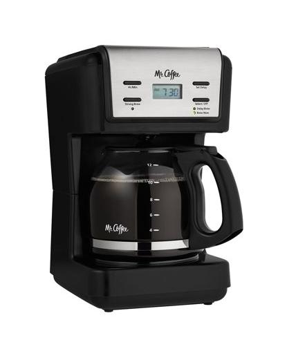 Mr Coffee 12-Cup Programmable Coffee Maker, Black