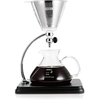 Yama Glass Pour over Coffee maker Black
