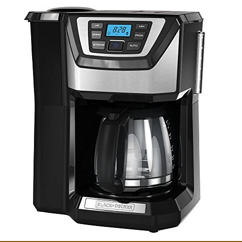 BLACK+DECKER 12-Cup Mill and Brew Coffeemaker  CM5000B