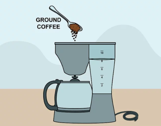 Step 4 - Fill the Coffee Grounds